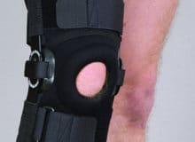 Orteza stawu kolanowego stabilizująca otwarta neopren perforowany