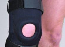 Stabilizator stawu kolanowego zszynami neopren perforowany
